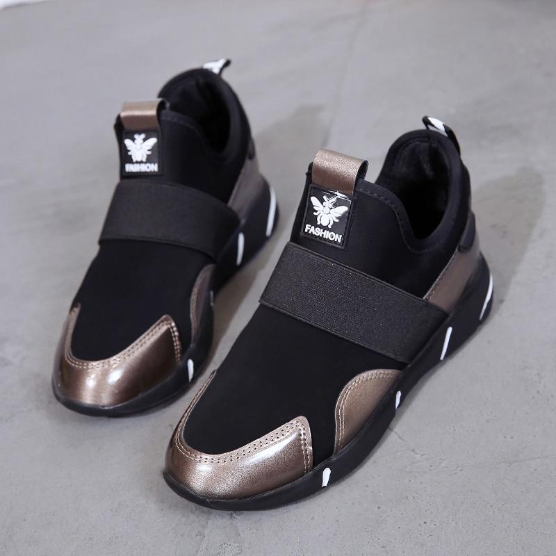 Plus Size 35-42 2019 Women Sneakers Vulcanized Shoes Ladies Casual Shoes Breathable Walking Mesh Flats Large Size Couple Shoes