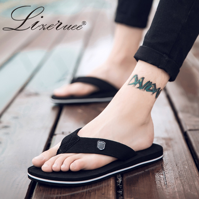 2019 New Arrival Summer Men Flip Flops High Quality Beach Sandals Anti-slip Zapatos Hombre Casual Shoes Wholesale A10