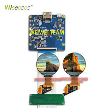 WISECOCO Ronde AMOLED 1.39 micro OLED Cirkel scherm MIPI display 400*400 HDMI controller board voor smart watch/wearable