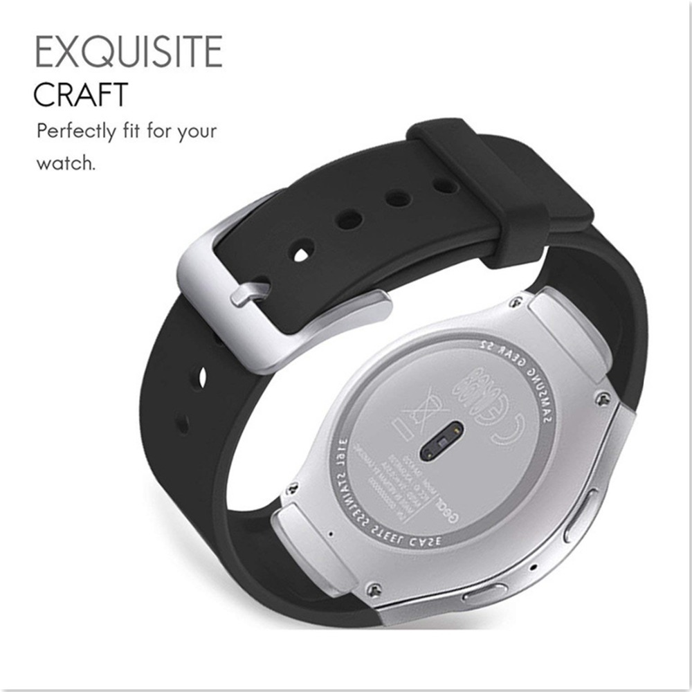 Sport Strap For Samsung Galaxy Gear S2 band R720 R730 Smart Watch Band Silicone wrist bracelet correa watchband belt in Watchbands from Watches