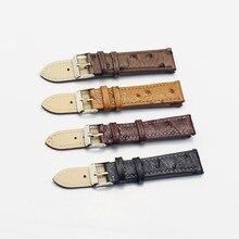 Vintage Struzzo Modello Cinturino Nero Cinturino di Vigilanza del Cinturino In Pelle 18 millimetri 20 millimetri 22 millimetri 24 millimetri Cinturino Cintura per accessori Per orologi