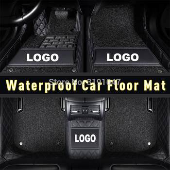 CARFUNNY Waterproof leather car floor mats for bmw 3 series E46 E90 E91 E92 E93 F30 F31 F34 GT car accessories image