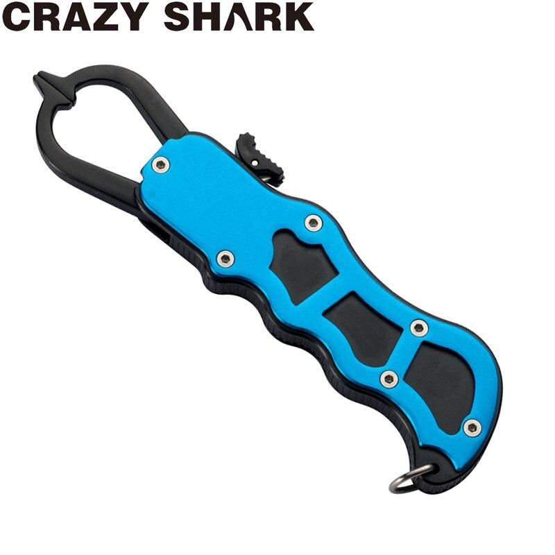 Crazy Shark Fish Lip Gripper  Professional Fish Holder 16.5cm Aluminium Fish Lip Grabber Fish Lip Grip Tools