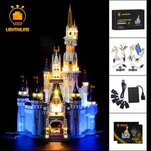 Image 1 - LIGHTAILING 크리 에이 티브 시리즈에 대 한 LED 라이트 키트 신데렐라 공주 성 모델 조명 세트 71040 16008 호환