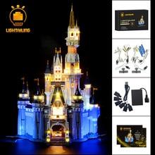 LIGHTAILINGชุดLED Light CreativeชุดCinderella Princess Castleรุ่นแสงชุด71040 16008