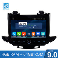 Besina Android 9.0 Car DVD Player For Chevrolet Trax 2017 2018 GPS Navigation Stereo Multimedia 1 Din Car Radio WIFI 4G+64G