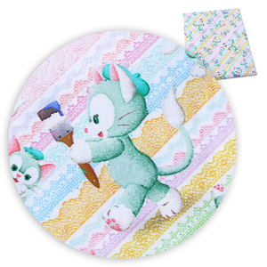 Рождественская ткань из 100% хлопка с принтом медведя и кролика, 50*140 см, для изготовления кукольных платьев, c9262