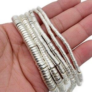 Матовая белого золота серебра плоские круглые монеты гематит 3/4/6/8 мм натуральный камень Spacer Бусины для самостоятельного изготовления ювелирных изделий Аксессуары|Бусины|   | АлиЭкспресс