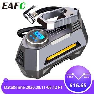 Tire-Pump Digital-Pressure-Gauge Air-Compressor-Tire Bright Inflator-Car 150-Psi Emergency-Flashlight