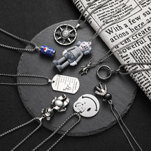 Женское длинное ожерелье из нержавеющей стали в стиле панк Готическая