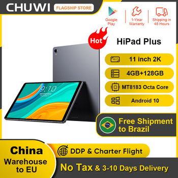 CHUWI HiPad Plus 11inch 2K IPS screen Tablet MT8183V/A Octa Core 4GB RAM 128G ROM  Android 11.0 system 2.4G+5G Dual band wifi 1