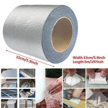 Ruban auto-adhésif en caoutchouc butyle, feuille d'aluminium, résistant aux hautes températures, étanche pour réparation de tuyaux de toit, autocollant anti-fuite