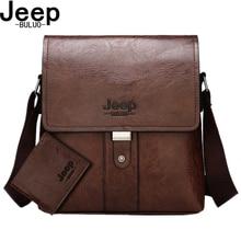 JEEP BULUO Men Shoulder Bag Set Big Brand Crossbody Business Messenger Bags Casual pu Leather For Man Fashion New Hot Salling