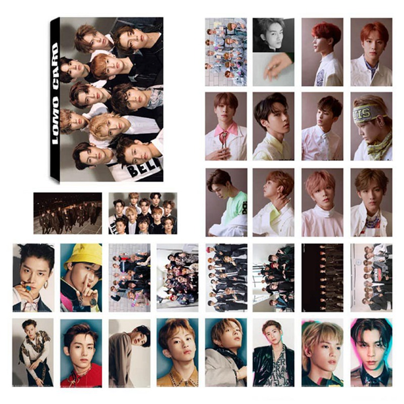 30Pcs/Set KPOP NCT127 NCT U Photo Card Poster Lomo Cards Self Made Paper HD Photocard Fans Gift Collection