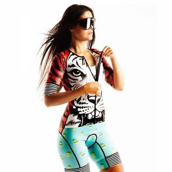 Triathlon Mulheres Adoram A Dor ao ar livre skinsuit camisa de ciclismo mtb roupas pro Time estrada jersey maillot ciclismo roupas de Corrida 1