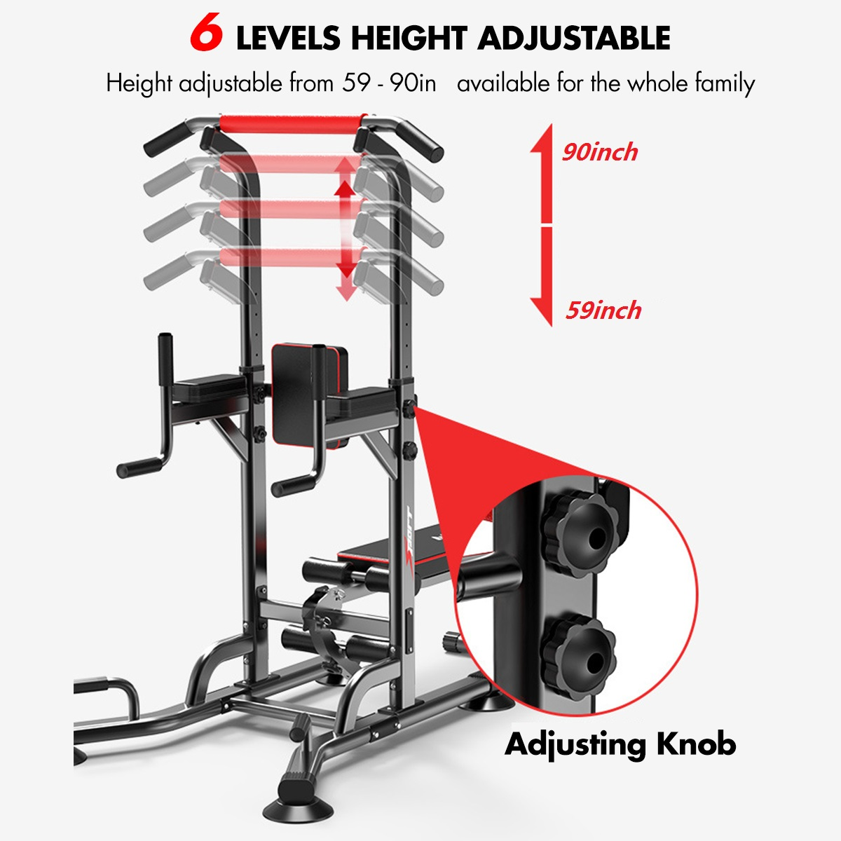 Multifunction Pull Up Station Bar Muscle Strength Training Adjustable Horizontal Bars Parallel Bars Home Gym Fitness Equipment