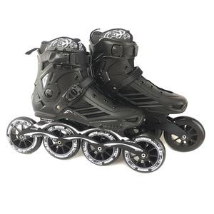 Image 4 - JK RS6 prędkości łyżworolki łyżwy profesjonalne buty do jazdy na rolkach dla dorosłych 3 lub 4*110mm koła Patines FSK Rollerblade SH55