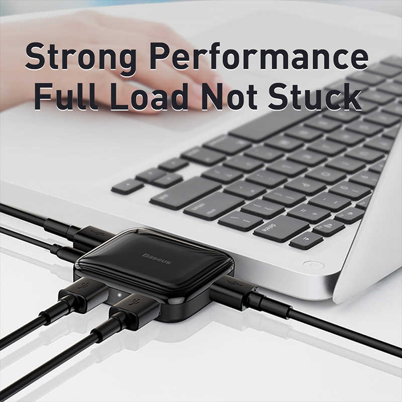 Baseus USB HUB na 4 porty USB 2.0 USB HUB przenośny USB Splitter dla MacBook Pro Huawei Samsung akcesoria do laptopa otg HUB USB