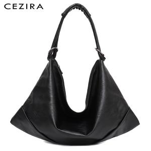 Image 1 - CEZIRA Large Hobo Bags Women Vegan Shoulder Bag High Quality Soft PU Leather Tote Fashion Light Ladies HandBag Crossbody Bag Sac