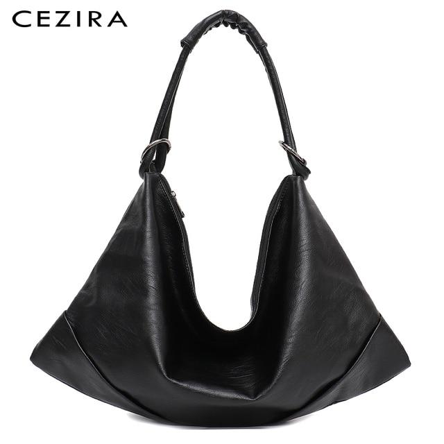 CEZIRA Large Hobo Bags Women Vegan Shoulder Bag High Quality Soft PU Leather Tote Fashion Light Ladies HandBag Crossbody Bag Sac