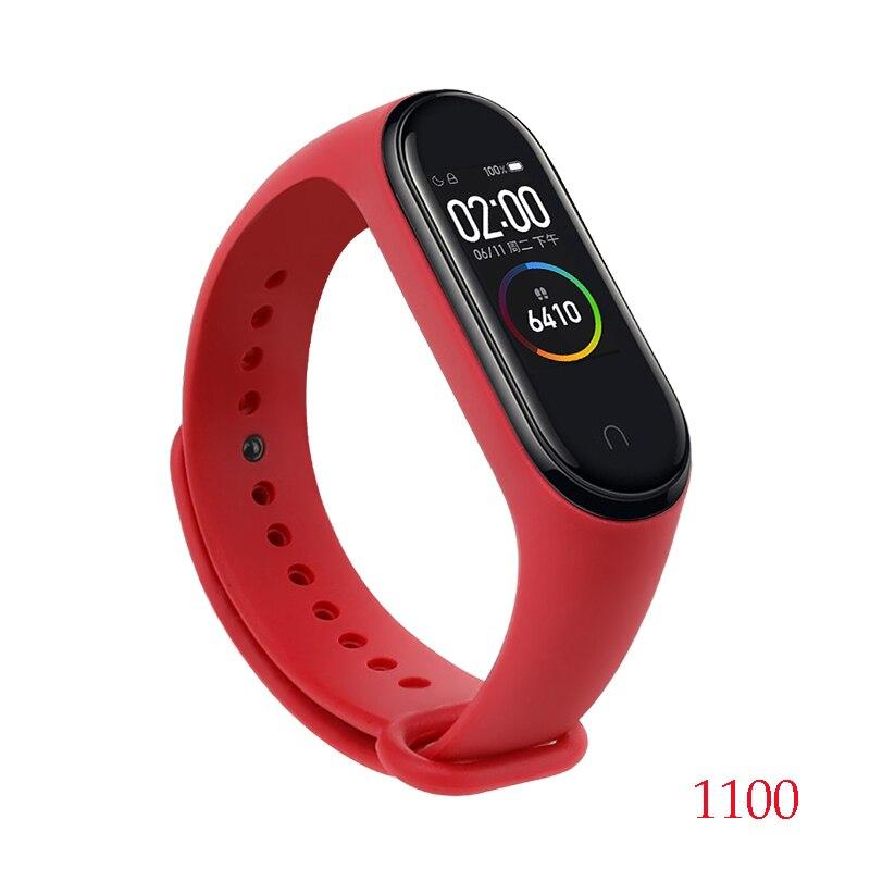 Для Xiaomi Mi Band 4/3 ремешок Металлическая пряжка силиконовый браслет аксессуары miband 3 браслет Miband 4 ремешок для часов М - Цвет: 1100