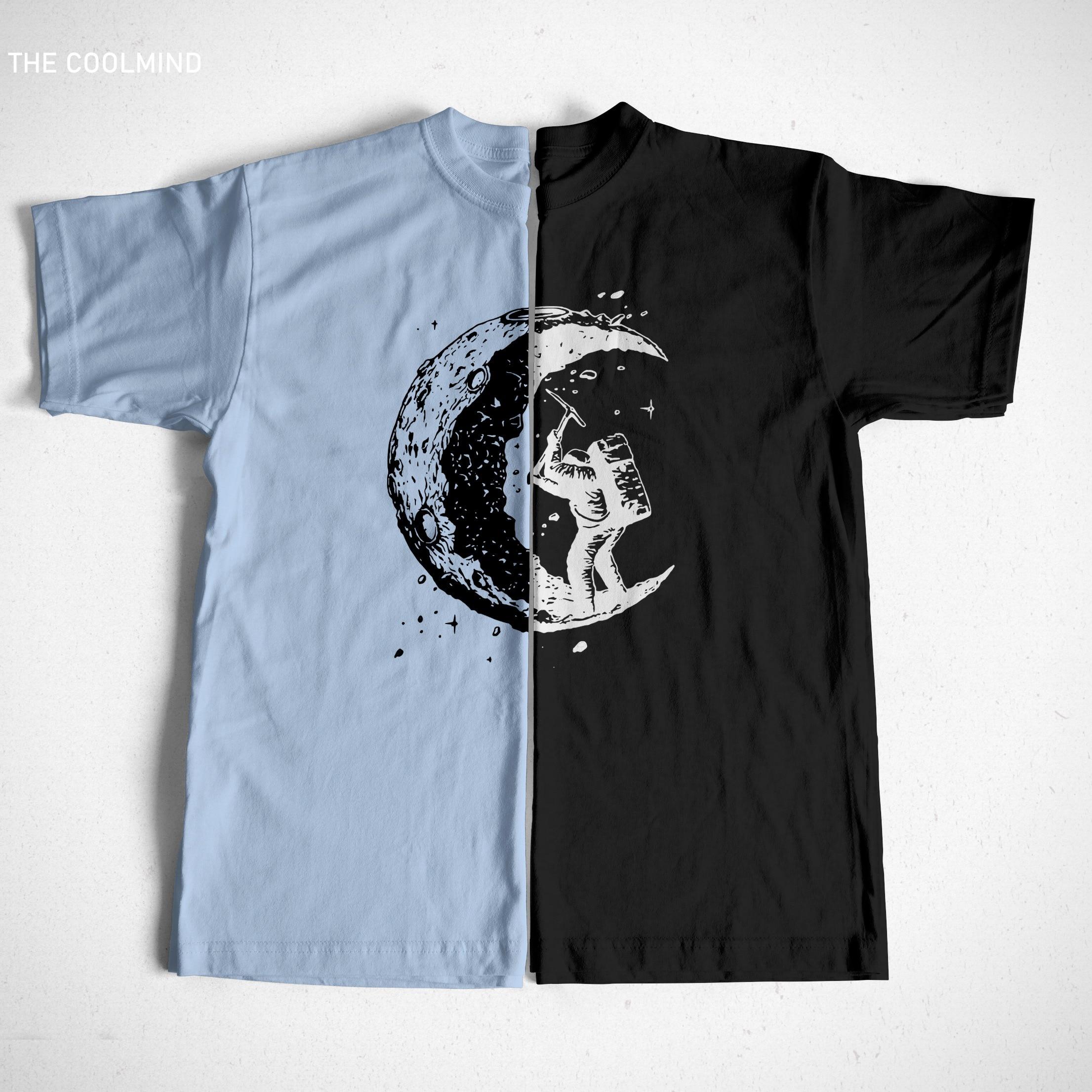 100% Organic Cotton Digging The Moon T Shirt Organic Mens Apparel » Planet Green Eco-Friendly Shop