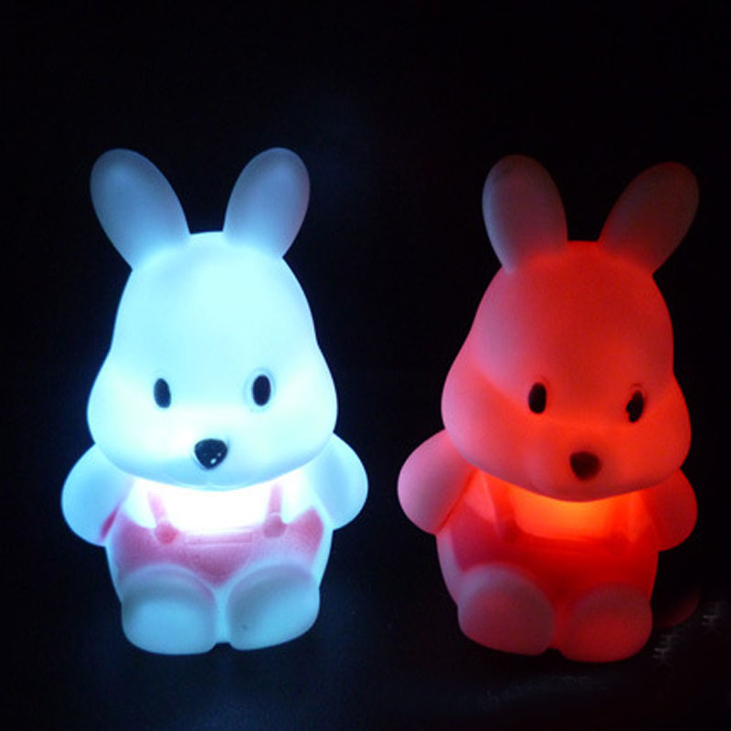 Lovely Rabbit LED 3D Night Light Kids Cartoon Mini Night Lamp Gift Bedroom Energy Saving Creative Home Decor Indoor Lighting
