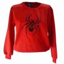 цена на Animal Spider Lady Pullover Street Wear Animal Print O-Neck Long Sleeve Oversized Korean version Sweatshirt Women's Sweatshirt