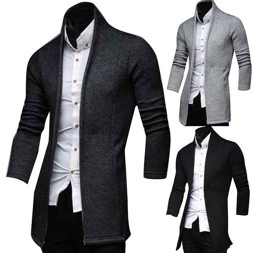 Moda outono jaqueta longo trench coat homens de alta qualidade masculino casaco blusão