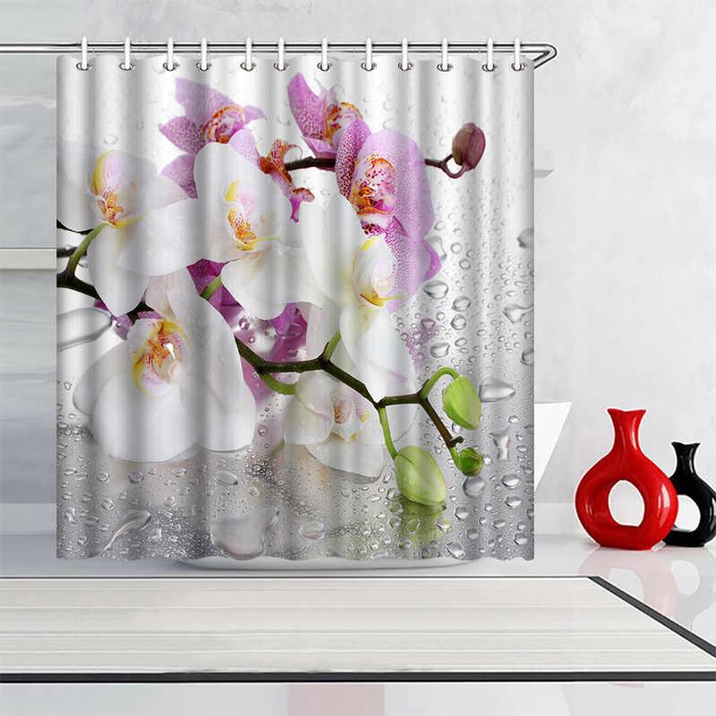 white orchids flower bathroom shower