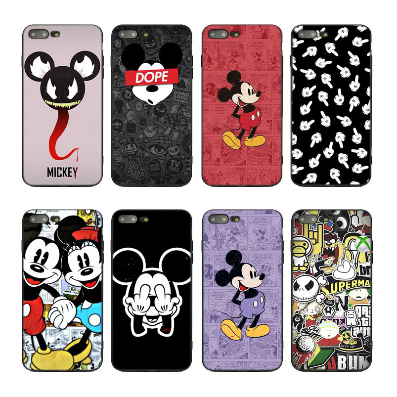 Mickey cartoon dope art Soft covers case for Apple iPhone 7 8 6 6s plus xr x xs 11 pro max se 5 5s TPU cute shell Luxury Coque