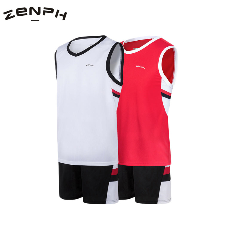 Zenph Basketball Sport Set Summer Running Sets Men Suits Gym Fitness Training Breathable Tracksuit Jogging