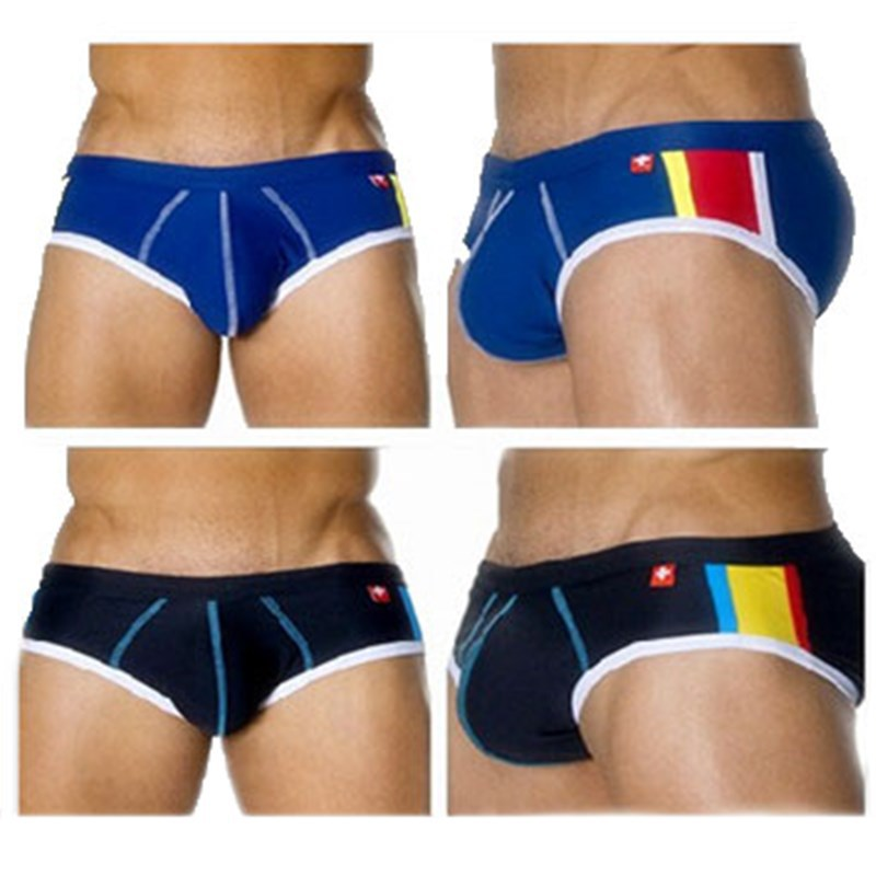 New Style Fashion Men Triangular Swimming Trunks Europe And America Sexy Swimwear Ultra-Fine Chinlon Shorts Cool Swimming Trunks