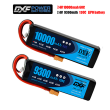 2PCS DXF 2S Lipo Battery 7.4V 10000mah 60C 120C/2S 7.4V 9300