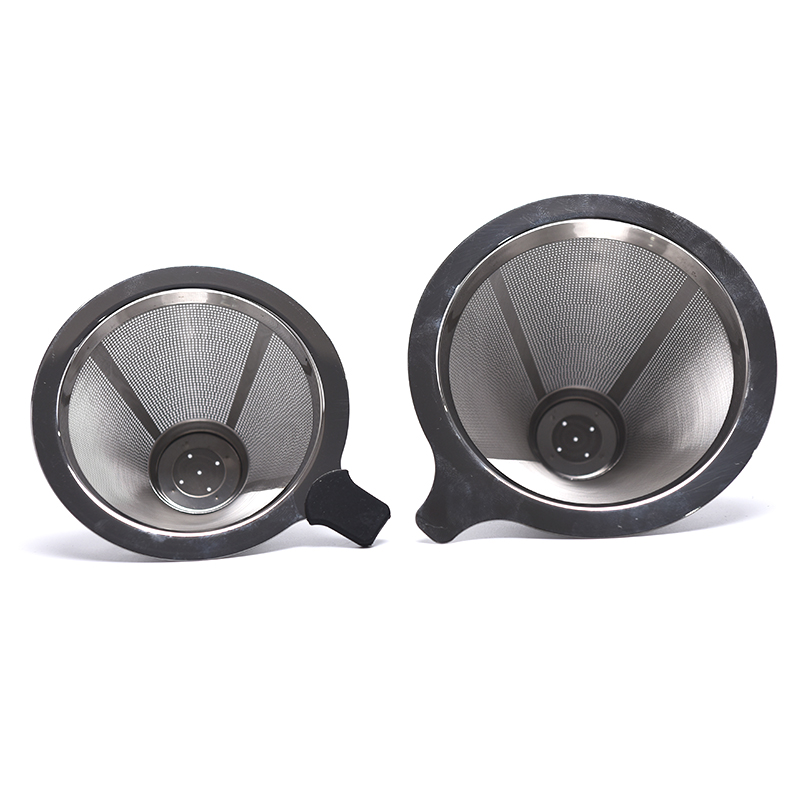 Baskets Coffee Filters Pour Over Coffee Dripper Maker Reusable Coffee Filter Stainless Steel Holder Metal Mesh Funnel