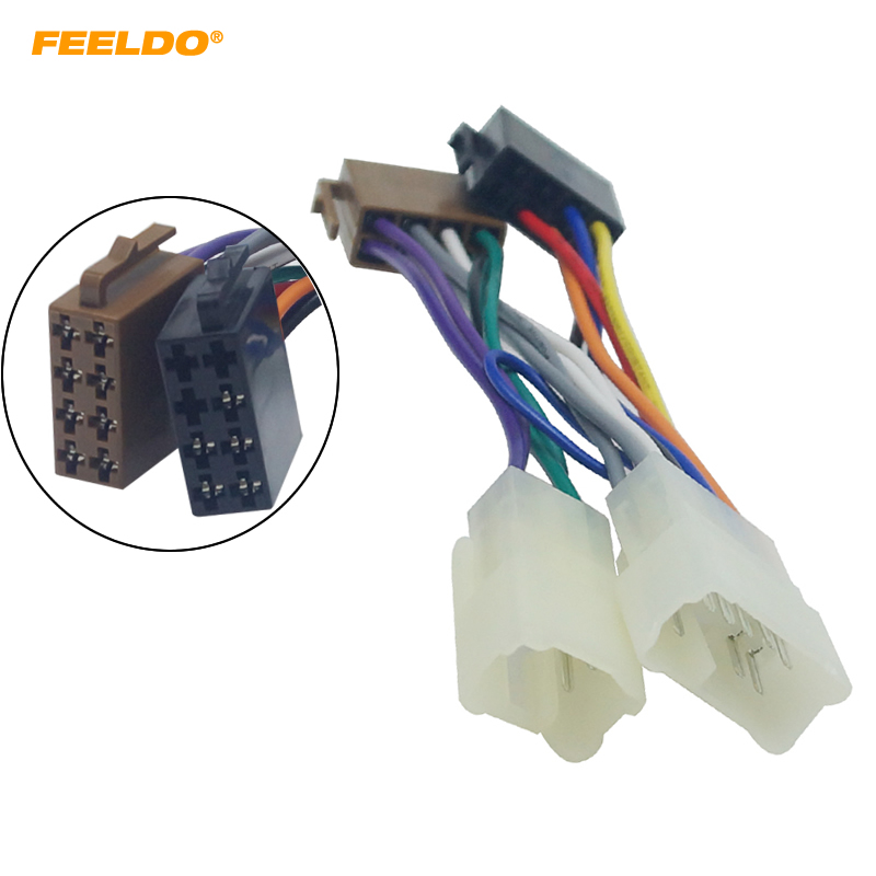 toyota wiring harness feeldo car stereo audio conversion wire plug adapter for iso to toyota wiring harness class action suit feeldo car stereo audio conversion wire