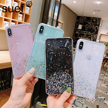 Glitter Bling Sequins Case For iphone 7 8 Plus Shining Star Transparency Phone Soft TPU Cover iPhone