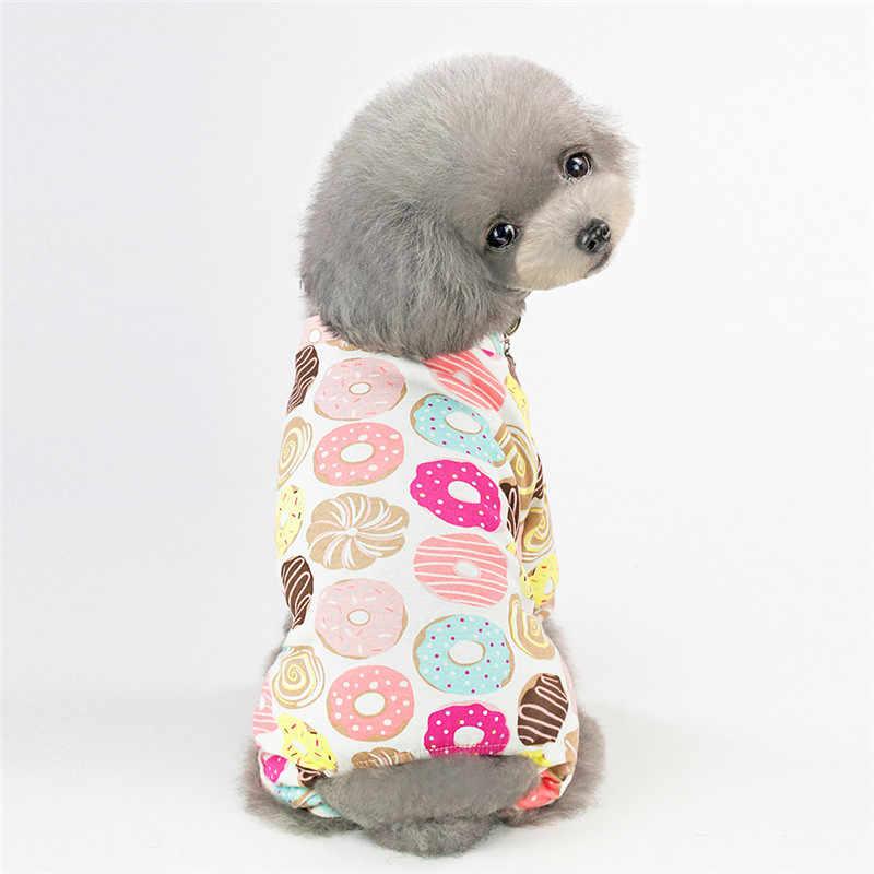 Perro de perro mono pijama para perros pequeños perros Shih Tzu Yorkshire Terrier mono de pijama cachorro gato ropa de pijama de chien