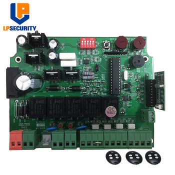 LPSECURITY 12V Gate Opener Control panel PCB Mother board for double arms swing gate motor