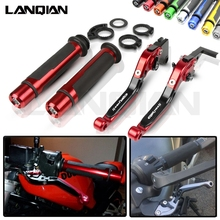 цена на For Honda CBR1100XX Motorcycle CNC Brake Clutch Lever & 7/8 22MM Handlebar Grips CBR 1100XX 1997-2007  CBR 1100 XX Accessories