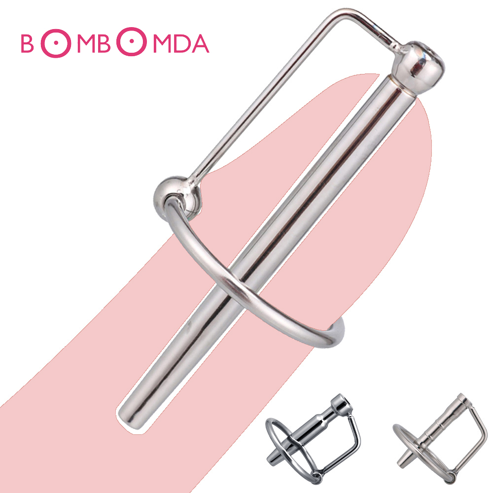 Male Urethra Catheter Sex Toys For Men Penis Ring Metal 3-8mm Urethra Sound Urethra Dilator Delay Ejaculation Penis Plug For Men