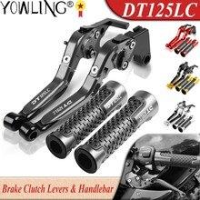 Dla Yamaha DT125LC DT125 LC MK2 MK3 1985 1986 1987 1988 1989 akcesoria motocyklowe regulowany dźwignia hamulca sprzęgło ręcznie Bar Grip