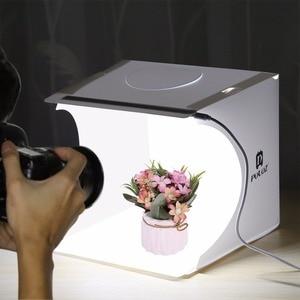 Image 5 - Cadiso Pieghevole Soft Box 20 centimetri LED Mini Studio Fotografico Diffusa Lightbox Foto con il Nero Sfondo Bianco per la Macchina Fotografica Del Telefono