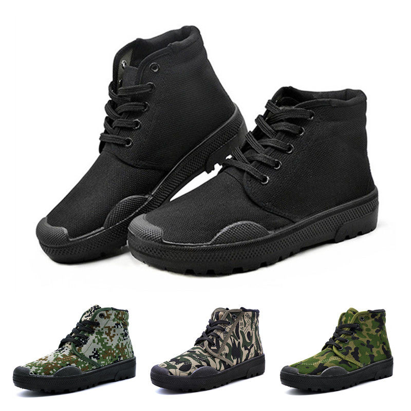 Unisex Liberation Shoes Men's Labor Shoes Building Sites Shoes Woodland Camouflage Military training Boots High-cops