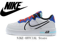 Fuerza Aérea 1 reaccionar hombres amortiguación zapatillas de deporte blanco y negro tamaño 40-45 CT1020-102