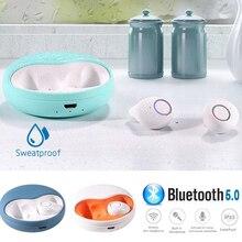 Mini Bluetooth 5.0 casque sans fil casque 3D stéréo sport sans fil casque écouteurs 500 mAh Rechargeable pour casque