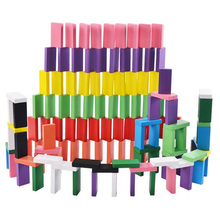 500pcs/set Domino Toys Children Wooden Toys Colored Domino Blocks Kits Early Learning Dominoes Games Educational Children Toys 120 dominoes in 12 colors contains a set of 10 domino accessories kids wooden domino building blocks toys classic montessori toy