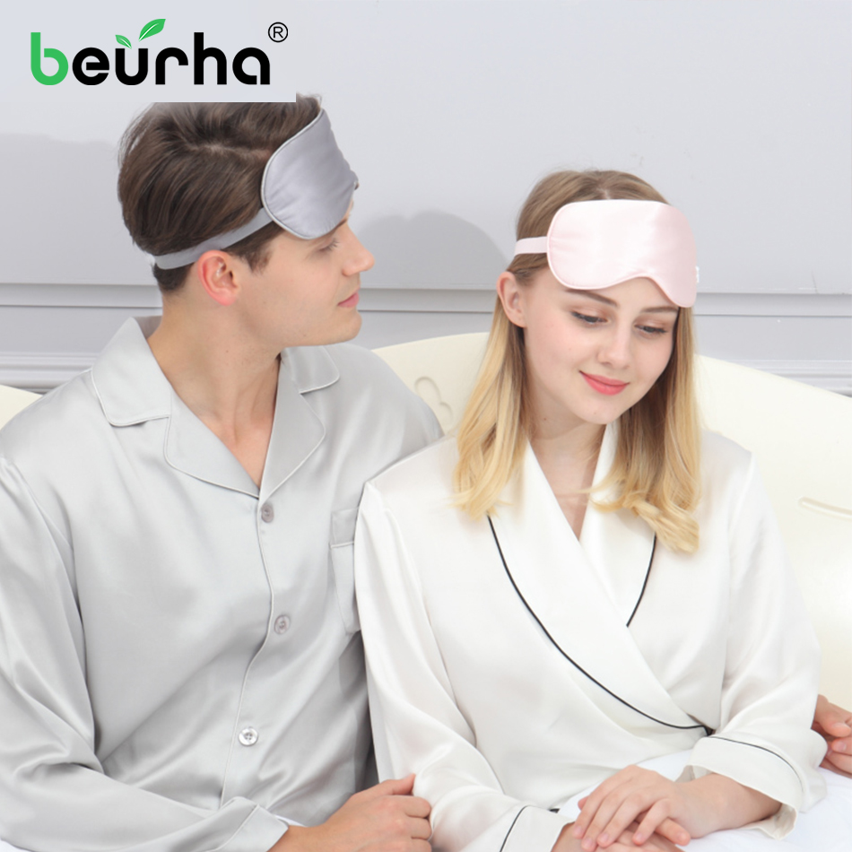 dropshipping 100% 3D Silk Sleep Mask Natural Sleeping Eye Mask Eyeshade Cover Shade Eye Patch Soft Portable Blindfold Travel 1
