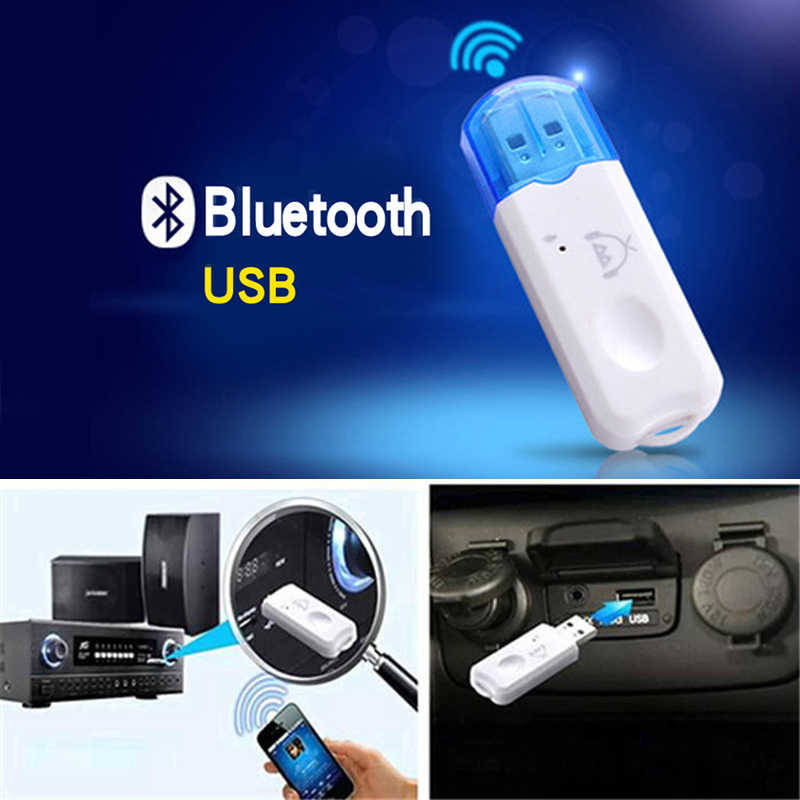 Portátil USB Bluetooth 2,1 receptor de Audio adaptador de Audio estéreo Kit manos libres inalámbrico para altavoz coche reproductor de MP3 TV teléfono inteligente