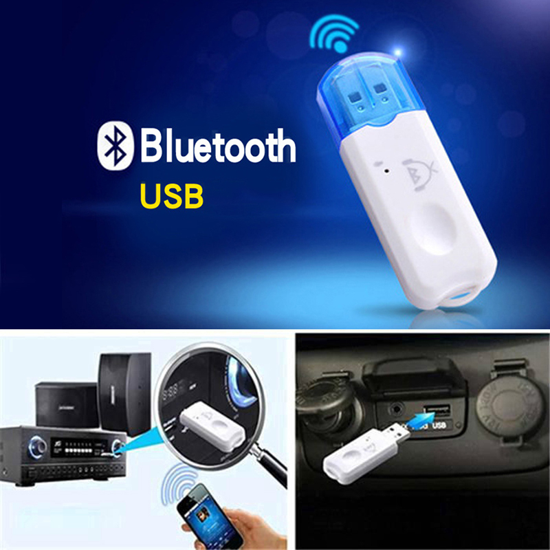 Portable USB Bluetooth 2.1 Audio Receiver Audio Stereo Adapter Wireless Handsfree Kit For Speaker Car MP3 Player TV Smart Phone